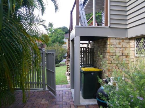 Front boundary gate opens directly into pool zone. It is not fitted with any form of catching device or spring loaded hinges